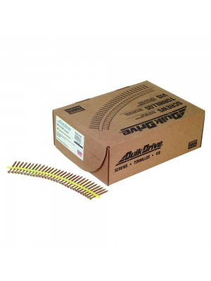 Quik Drive WSNTL212S Wood Screws 2 1/2-Inch Course Twin Threads, Yellow Zinc Coating 1500 ct.