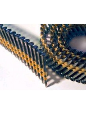 """PLASTIC COIL COLLATED PINS 1-1/2"""" (STEEL FRAMING PINS ) CASE QTY 10.800"""