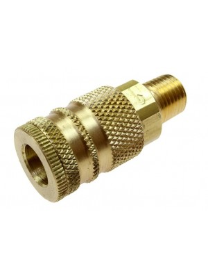 1/4' BODY SIZE COILFLOW INDUSTRIAL INTERCHANGE COUPLER 3/8' NPT MALE