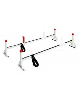 Weather Guard 205-3 All-Purpose White Powder Coated Full Size Van Ladder Rack