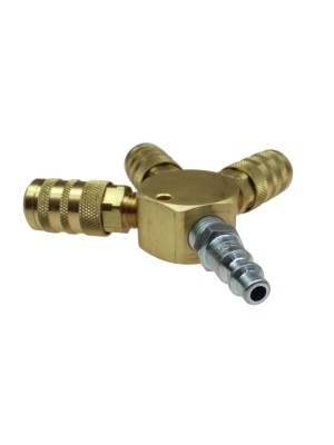 "3122-15X FLAT HEX MANIFOLD ASSEMBLY, INCLUDES (3) 1/4"" SIX BALL INDUSTRIAL COUPLERS AND (1) 1/4"" INDUSTRIAL CONNECTOR"