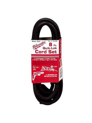 Milwaukee 48-76-4008 Quik-Lok 8-Foot 3 Wire Grounded Cord
