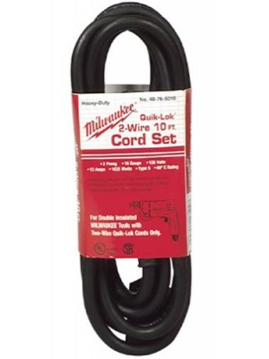 Milwaukee 48-76-5010 Quik-Lok 48-76-5010 10-Foot 2 Wire Double Insulated Cord