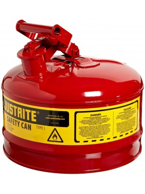 """2 GALLON, 11.75"""" OD X 11.50"""" H GALVANIZED STEEL TYPE (RED SAFETY CAN)"""