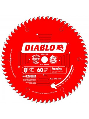 """8-1/2"""" 60 TOOTH FINE FINISHING MITER SAW BLADE WITH 5/8"""" ARBOR"""